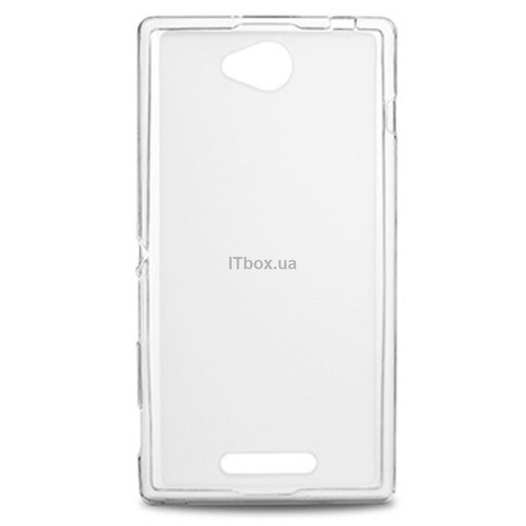 Чехол для моб. телефона Drobak для Sony C2305 Xperia C(White Clear)Elastic PU (212286)