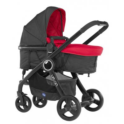 Коляска Chicco Urban Plus Stroller Black (текстиль не входит в комплект) (79418.95)