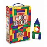Кубики Melissa&Doug 100 деревянных кубиков Фото
