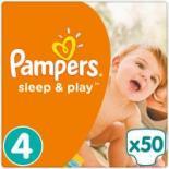 Подгузник Pampers Sleep & Play Maxi Размер 4 (7-14 кг), 50 шт Фото
