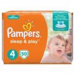 Подгузник Pampers Sleep & Play Maxi Размер 4 (7-14 кг), 50 шт Фото 1