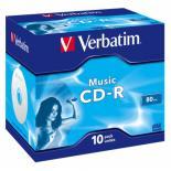 Диск CD Verbatim 700Mb 16x Jewel Case 10 Pack Music Фото
