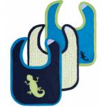 Слюнявчик Luvable Friends 3 шт для мальчиков, сине-зелений Фото
