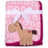 Одеяло Luvable Friends с рисунком  животных для девочек Фото