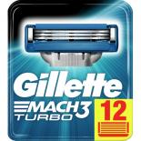 Сменные кассеты Gillette Mach 3 Turbo 12 шт Фото