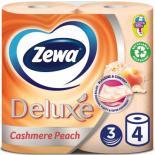 Туалетная бумага Zewa Deluxe 3-слойная Персик 4 шт Фото