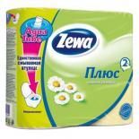 Туалетная бумага Zewa Plus 2-слойная Ромашка Желтая 4 шт Фото