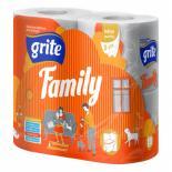 Туалетная бумага Grite Family 3 слоя 150 отрывов 4 шт Фото