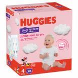 Подгузник Huggies Pants 4 для девочек (9-14 кг) 72 шт Фото 1