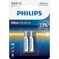 Батарейка PHILIPS AAA LR03 Ultra Alkaline * 2 Фото