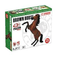 Пазл 4D Master Скачущая коричневая лошадь Фото
