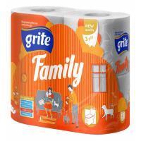 Туалетний папір Grite Family 3 слоя 4 рулона Фото