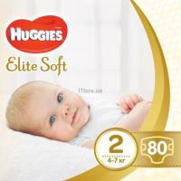 Подгузник Huggies Elite Soft 2 Mega (4-7 кг) 80 шт Фото