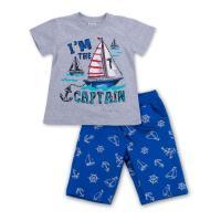 """Набор детской одежды E&H с корабликами """"I'm the captain"""" Фото"""