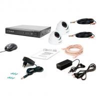 Комплект видеонаблюдения Tecsar 2OUT-2M-AUDIO DOME Фото