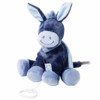 М'яка іграшка Nattou с музыкой ослик Алекс 28см Фото
