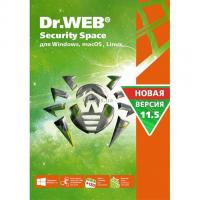 Антивирус Dr. Web Security Space, 3 ПК 1 год карт. конверт Фото