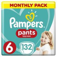 Подгузник Pampers трусики Pants Extra Large Размер 6 (15+ кг) 132 шт Фото