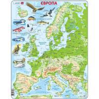 Пазл Larsen рамка-вкладыш Карта Европы с животными Фото