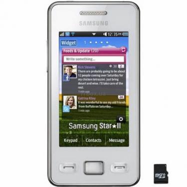 Мобильный телефон GT-S5260 (Star II) Ceramic White Samsung (GT-S5260RWA) - фото 1
