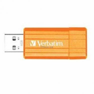 USB флеш накопичувач 4Gb Store'nGo PinStripe volcanic or Verbatim (47394) - фото 1