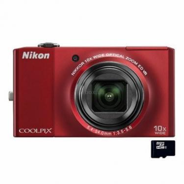 Цифровой фотоаппарат Coolpix S8000 red Nikon (VMA512E1) - фото 1