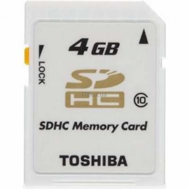 Карта памяти 4Gb SDHC class 10 Toshiba (SD-T04GJ(BL4) - фото 1
