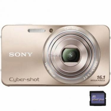 Цифровой фотоаппарат Cybershot DSC-W570 gold SONY (DSCW570N.CEE2) - фото 1
