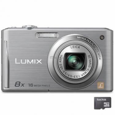 Цифровой фотоаппарат Lumix DMC-FS37 silver Panasonic (DMC-FS37EE-S) - фото 1