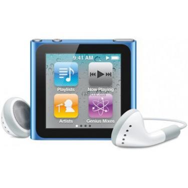 mp3 плеєр Apple iPod Nano 6Gen 8GB Blue (MC689QB/A) - фото 1