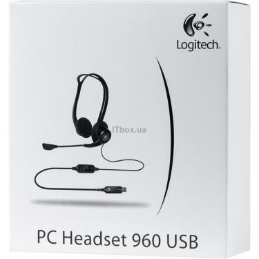 Навушники Logitech PC 960 Stereo Headset USB (981-000100) - фото 7