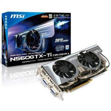 Відеокарта MSI GeForce GTX560 Ti 1024Mb Twin Frozr (N560GTX-Ti Twin Frozr II/OC) - фото 1