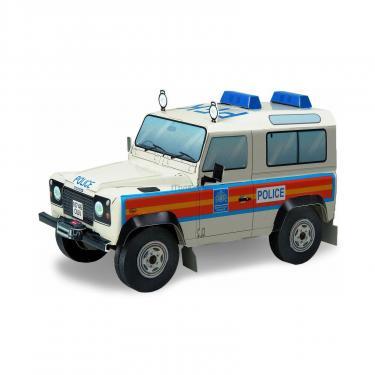 Сборная модель Умная бумага LandRover Defender 90-полиция серии Автомобили Фото