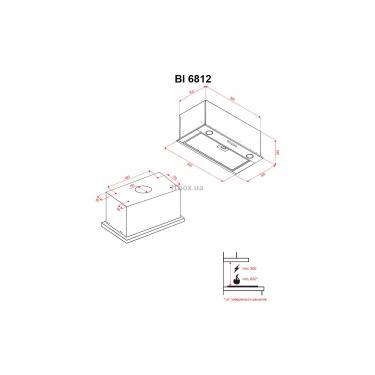 Вытяжка кухонная Perfelli BI 6812 BL LED Фото 6