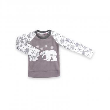 Пижама Matilda флисовая с мишками и снежинками (7161-104G-white) - фото 2