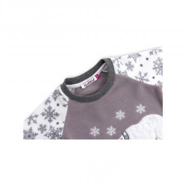 Пижама Matilda флисовая с мишками и снежинками (7161-104G-white) - фото 4