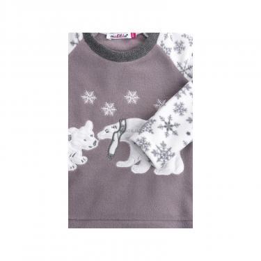 Пижама Matilda флисовая с мишками и снежинками (7161-104G-white) - фото 5