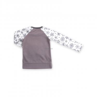 Пижама Matilda флисовая с мишками и снежинками (7161-104G-white) - фото 6