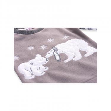 Пижама Matilda флисовая с мишками и снежинками (7161-104G-white) - фото 7
