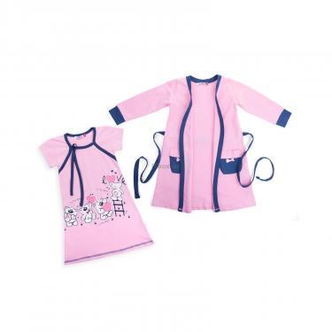 "Піжама Matilda и халат с мишками ""Love"" (7445-128G-pink) - фото 1"