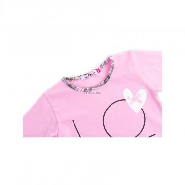"""Пижама Matilda с сердечками """"Love"""" (7585-116G-pink) - фото 6"""