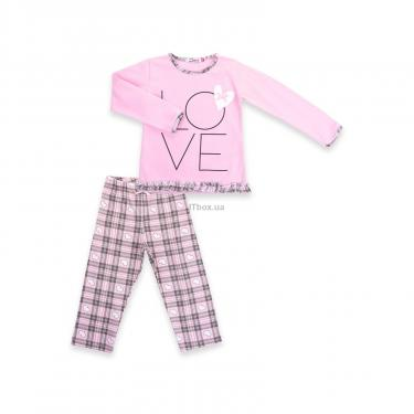"""Пижама Matilda с сердечками """"Love"""" (7585-116G-pink) - фото 1"""