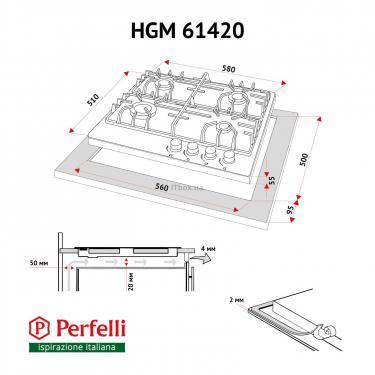 Варочная поверхность PERFELLI HGM 61420 BL - фото 8