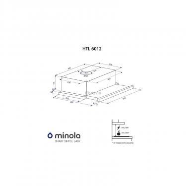 Вытяжка кухонная Minola HTL 6012 IV 450 LED Фото 9