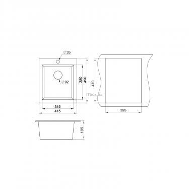 Мойка кухонная Minola MPG 71040-42 Антрацит (металлик) Фото 1