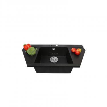 Мойка кухонная PERFELLI MAJESTIC TGM 1251-96 BLACK METALLIC - фото 3