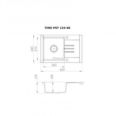 Мойка кухонная PERFELLI TINO PGT 134-66 SAND - фото 7