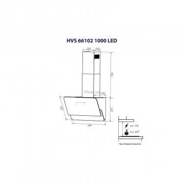Вытяжка кухонная Minola HVS 66102 BL 1000 LED Фото 7
