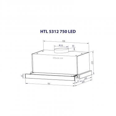 Вытяжка кухонная Minola HTL 5312 WH 750 LED Фото 7