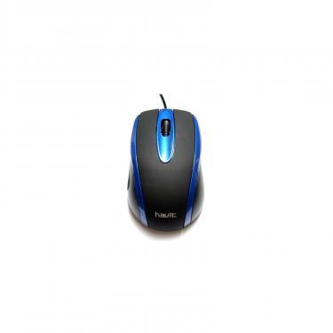 Мышка Havit V-MS753 USB Black/Blue Фото 1